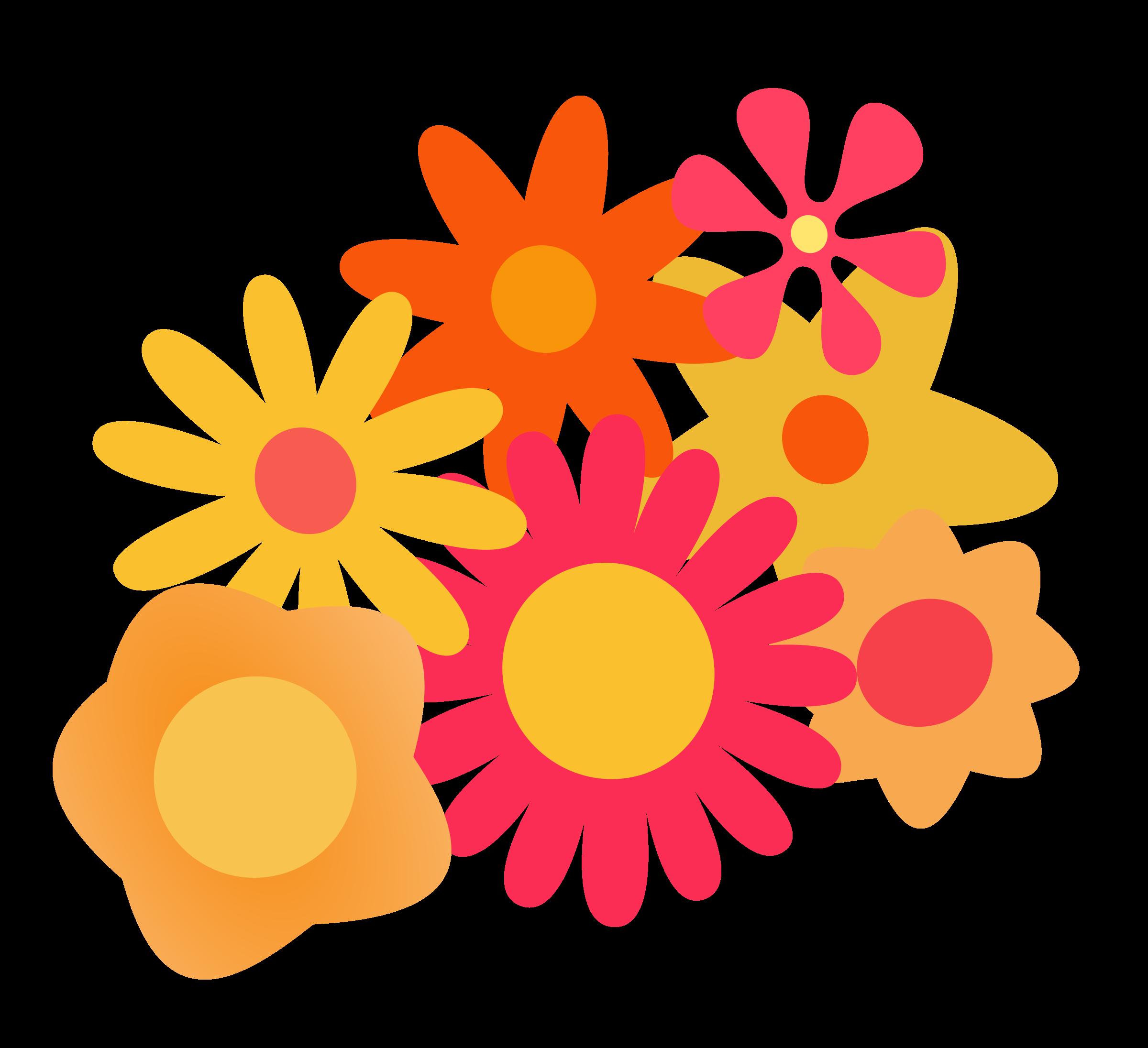 Orange Flower clipart transparent Cluster Flower Flower Clipart Cluster