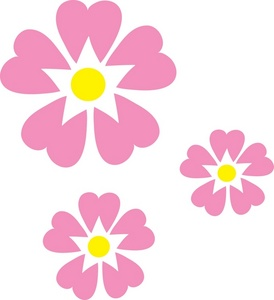 Pink clipart yellow flower Of art art Image of