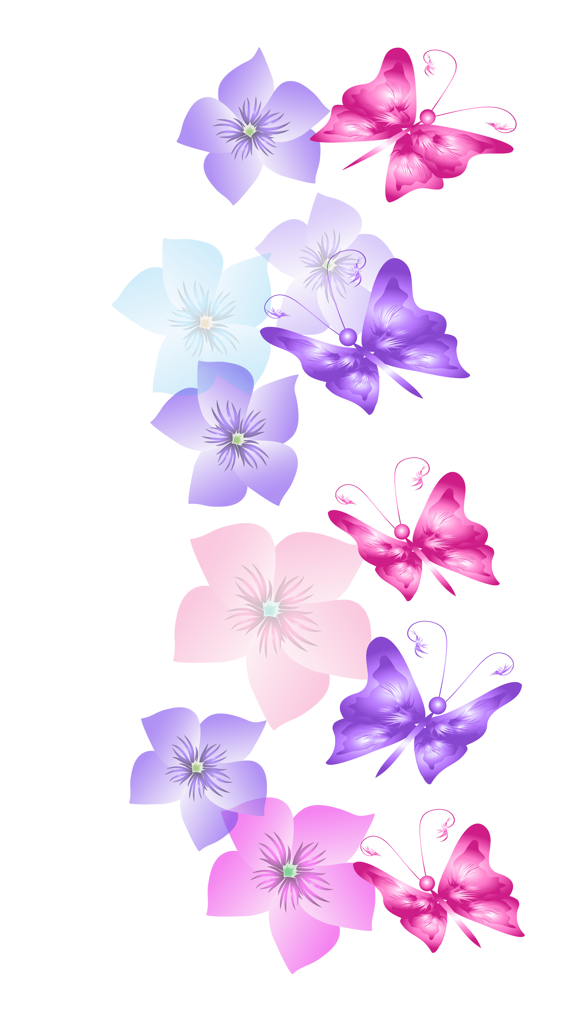 Decoration clipart pretty flower Gallery Fullsize Butterflies  PNG