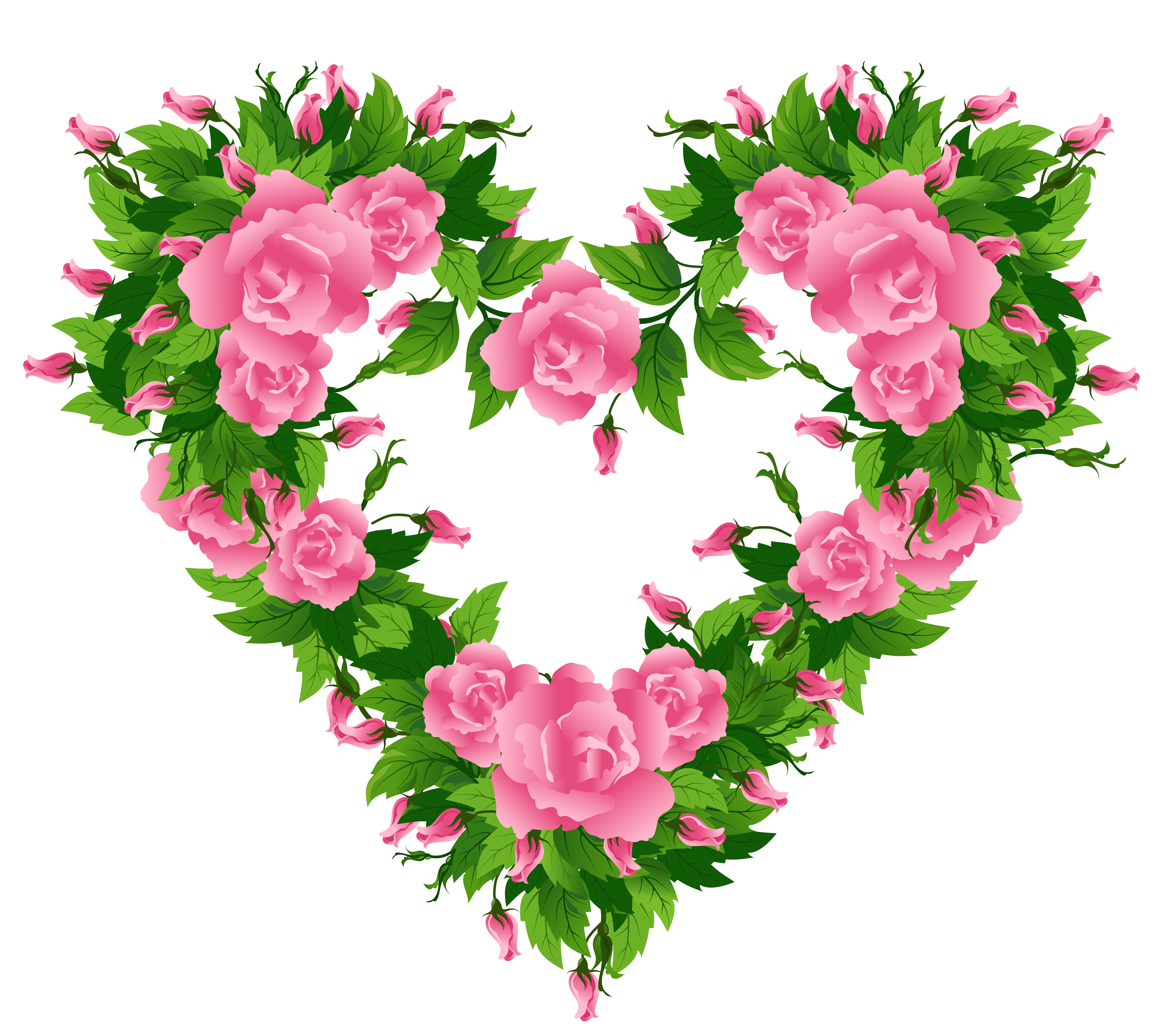 Pink Rose clipart pink heart Picture Clipart Roses  Yopriceville