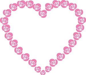 Pink Rose clipart pink heart Heart with Shaped Illustration Clip