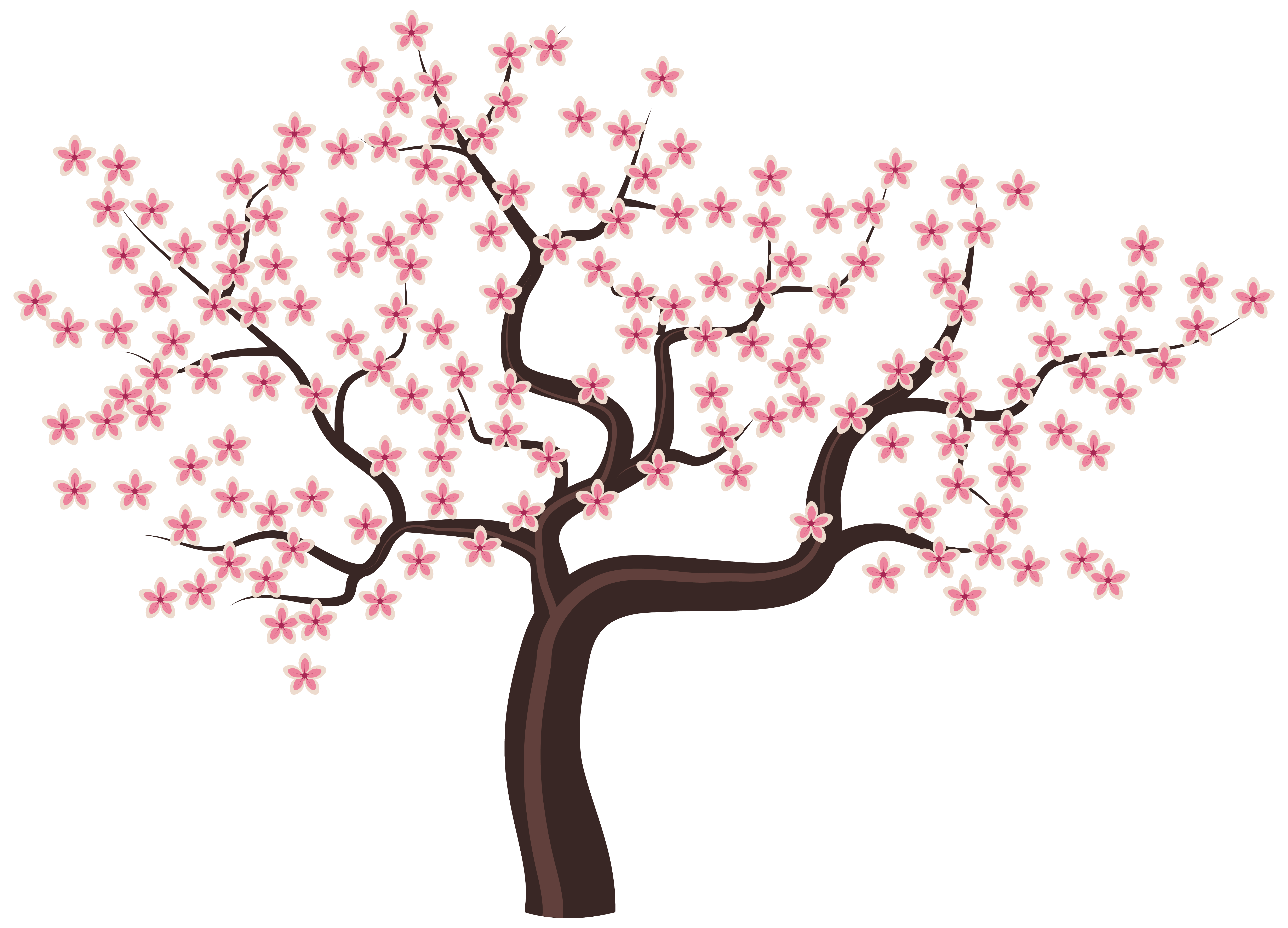 Pink Flower clipart flowering tree Gallery View size PNG Flowers