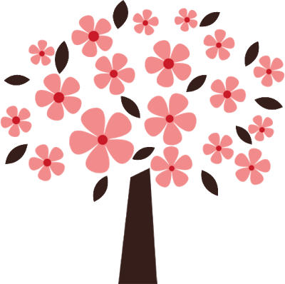 Pink Flower clipart flowering tree Cliparts Clipart tree Bloom flowers