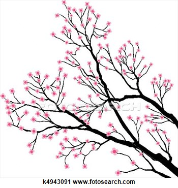 Pink Flower clipart flowering tree Art tree clip tree Search