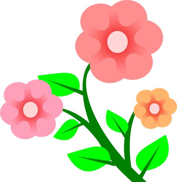 Pink Flower clipart flowering tree Compdclipart Blue clipart to Clipart