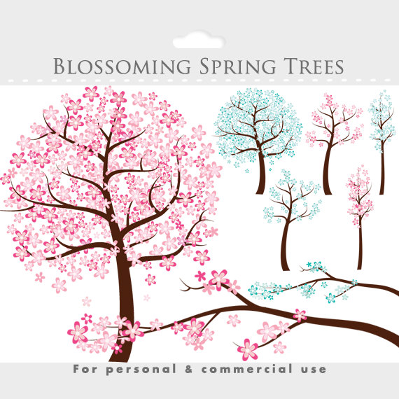 Pink Flower clipart flowering tree Clip This a tree Flowers