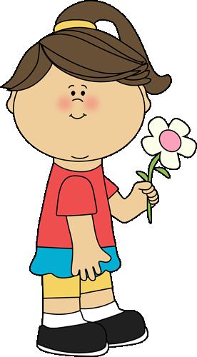Pink Flower clipart for kid Images Flower Clip Girl Flower