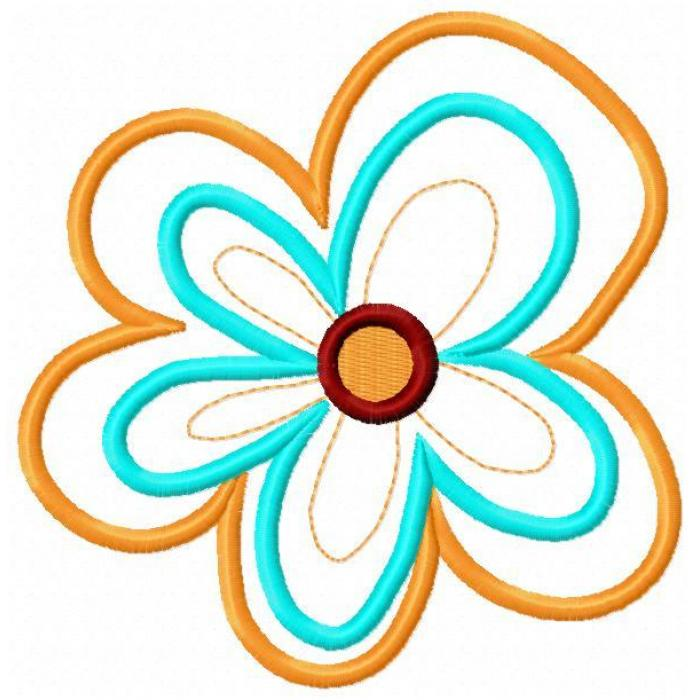 Red Flower clipart groovy #12