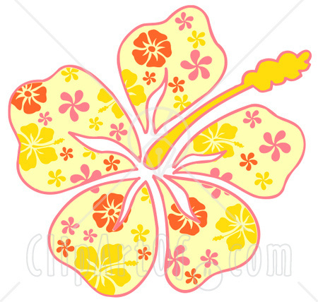 Yellow Flower clipart hawaiian Yellow Flower Pink Flower With