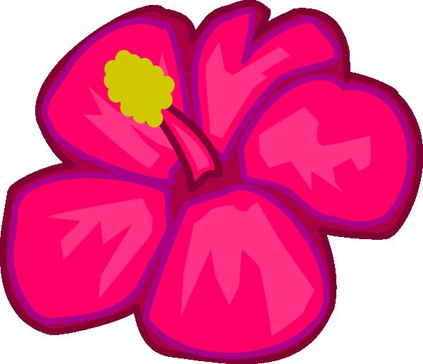 Pink Flower clipart hawaiian flower Download Flower Pink com vector
