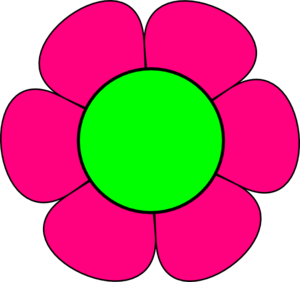 Pink Flower clipart large flower Large And Pink Clip And