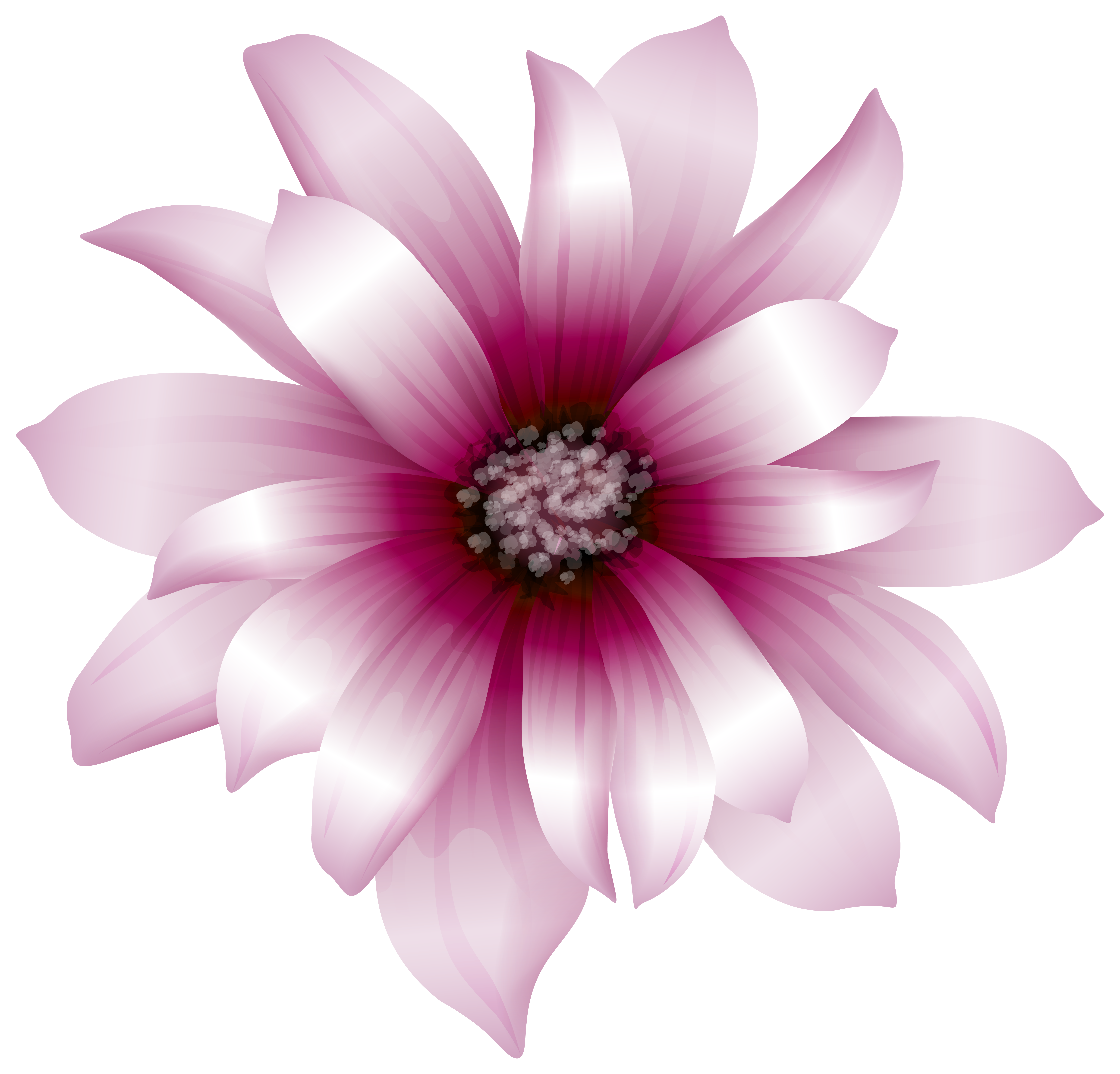 Pink Flower clipart large flower  Pink available Art