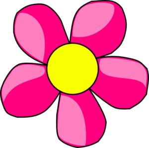 Pink clipart yellow flower Art Collection flowers Pink clip