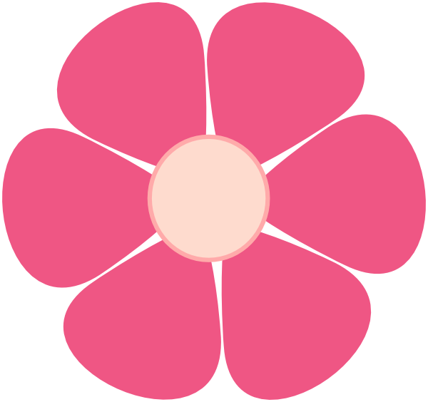 Pink Flower clipart large flower PNG: · at large Art