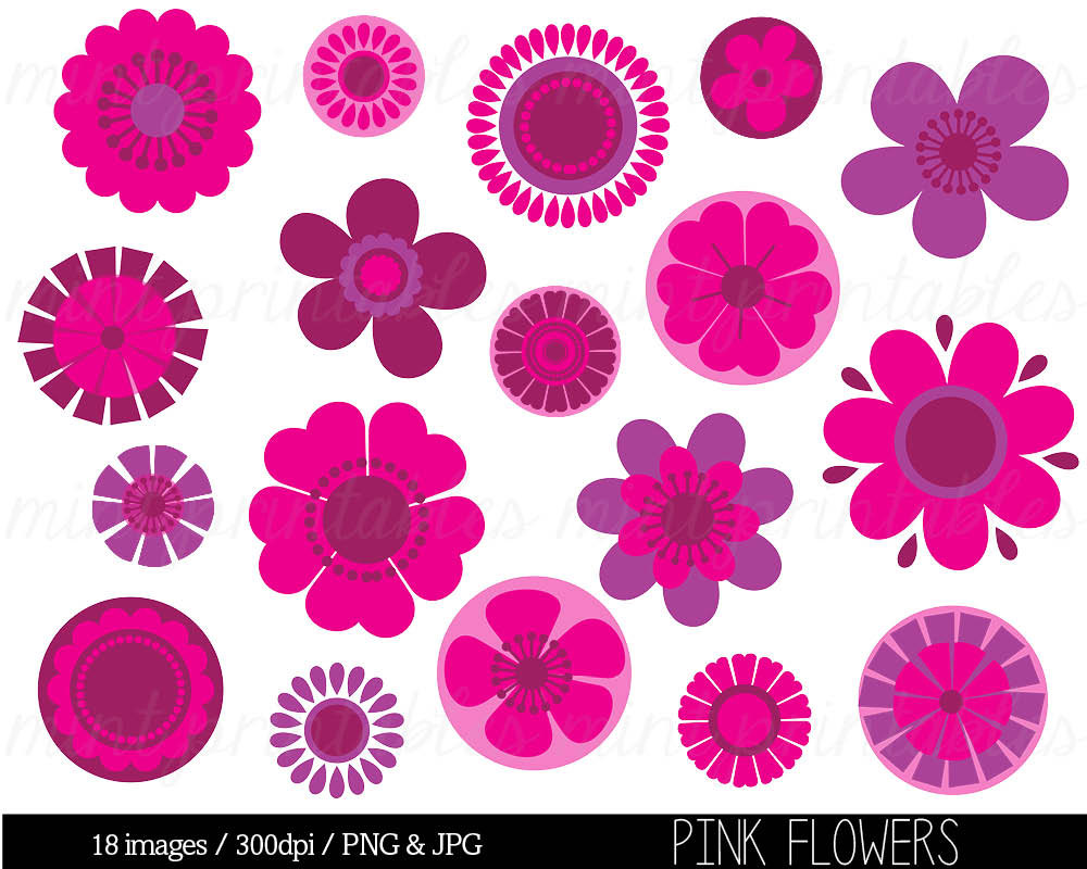 Yellow Flower clipart fuschia flower Clip gousicteco: Pink Art Light