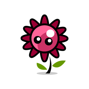 Pink Flower clipart little flower Clipart Graphic of Flower with