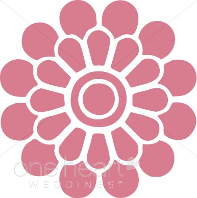Blue Flower clipart pink flower Clipart Dark Dark Pink Modern