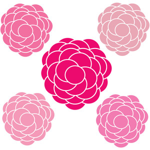 Pink Flower clipart mother's day // Instant Instant Day Digital