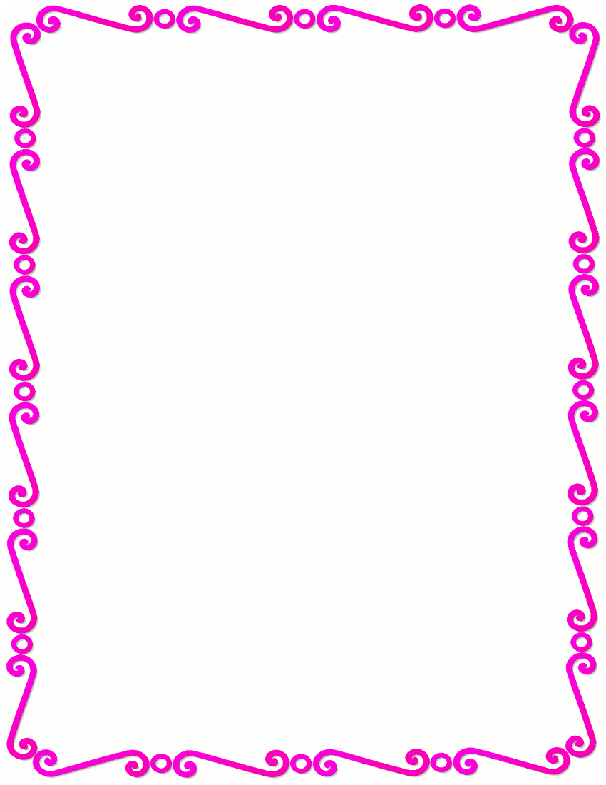 Pink Flower clipart pink colour Clipart Free Clip pink%20flower%20border%20clip%20art Border