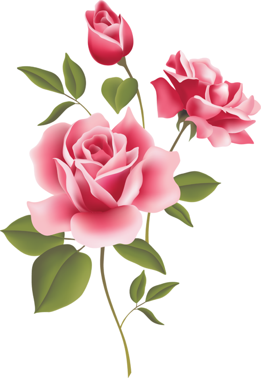 Red Rose clipart rose border #6