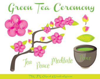 Pink Flower clipart spring tea Clip Tea Tea Clipart Tea