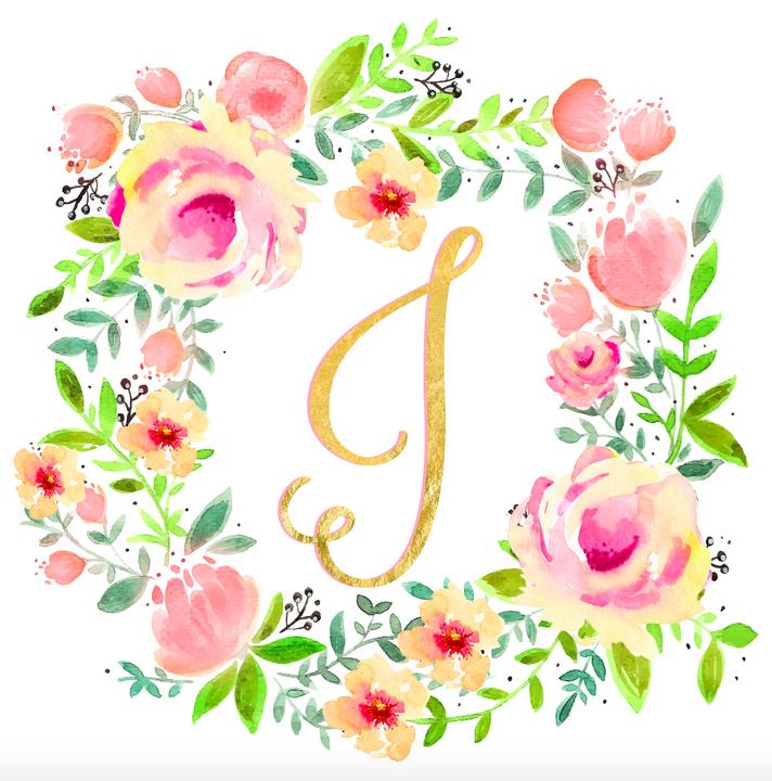Pink Flower clipart spring tea Site mason monograms Spring Pretty