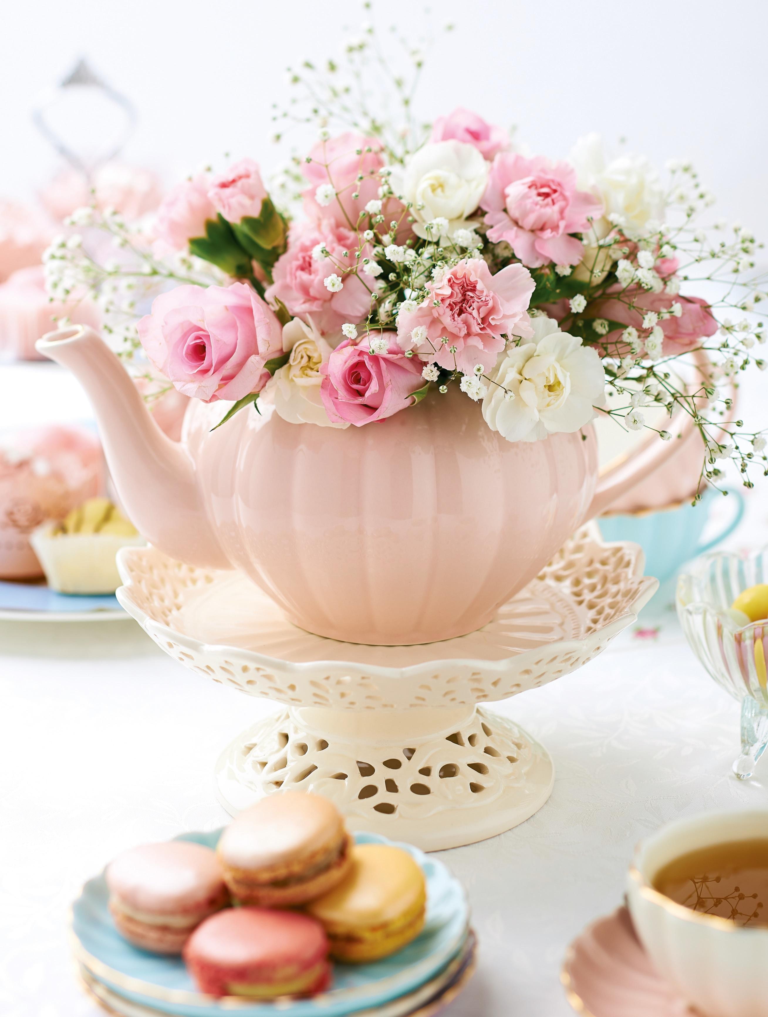 Pink Flower clipart spring tea Ever tea? Flower arrangements and