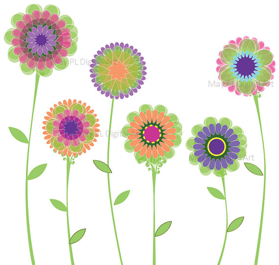Pink Flower clipart springtime Cliparting on and orange pink