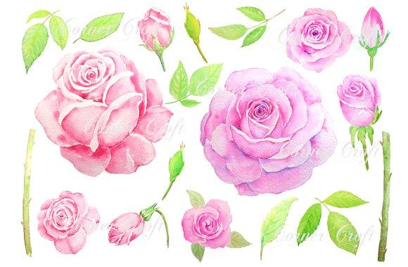 Vintage Flower clipart pink rose Rose  Vintage Creative Clipart