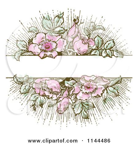 Vintage Flower clipart background Art Vintage Clip Clipart Clip