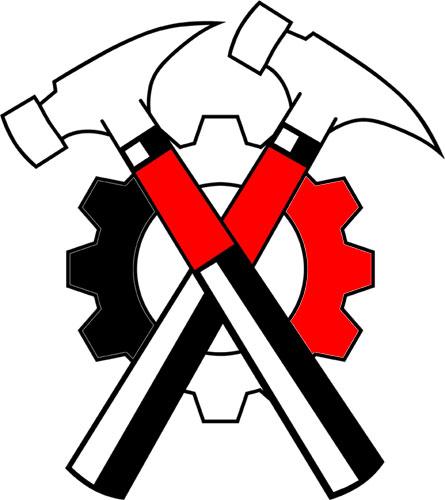 Pink Floyd clipart crossed hammers #7