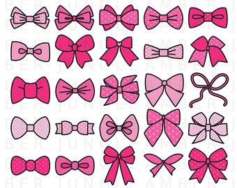 Pink Hair clipart baby bow #3