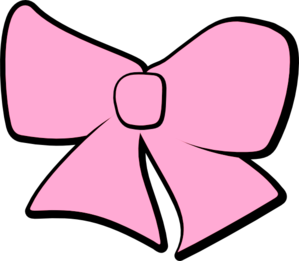 Pink Hair clipart baby bow #1