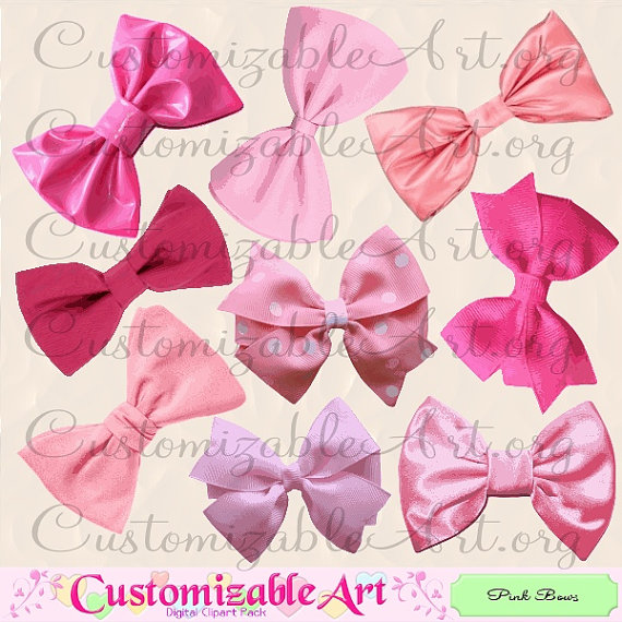 Pink Hair clipart baby bow #4