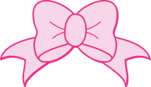 Pink Hair clipart pink bow #6