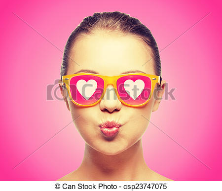 Pink Hair clipart pink sunglass Photo  sunglasses girl in