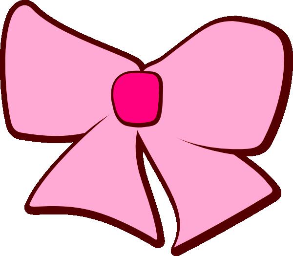 Pink Hair clipart ribbon Art Pink Bow Art Clipart