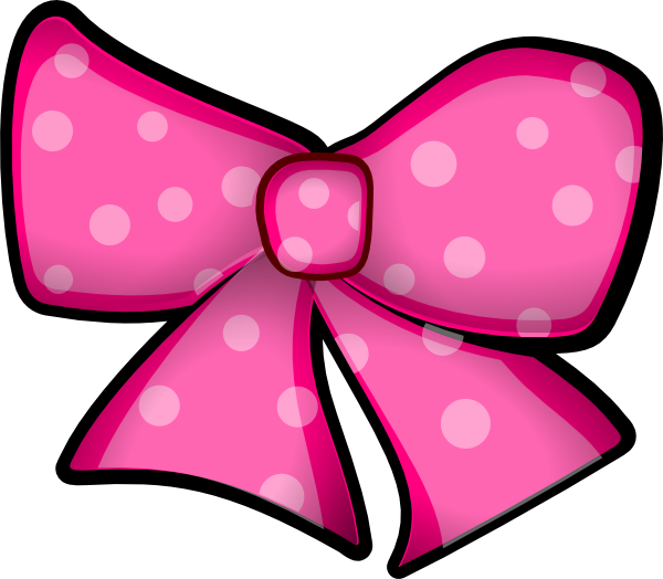 Pink Hair clipart ribbon On Bow Free Bow Art