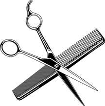 Pink Hair clipart shears #9