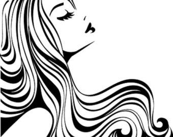 Dark Hair clipart just hair Items Popular Art Hair Clip