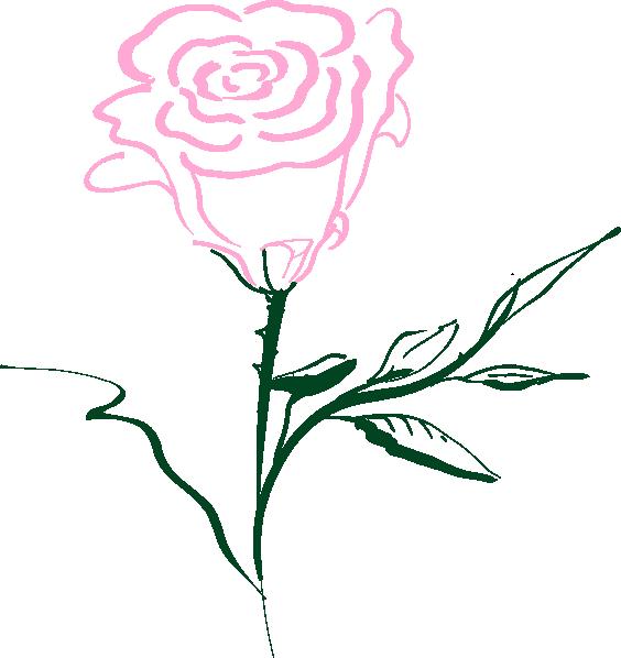 Pink Rose clipart cartoon Clker Pink Rose com image