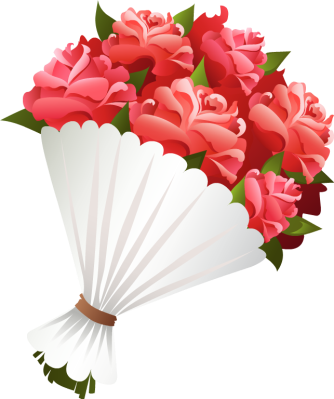 Pink Rose clipart flower bouquet Roses Art Pink Clip Red