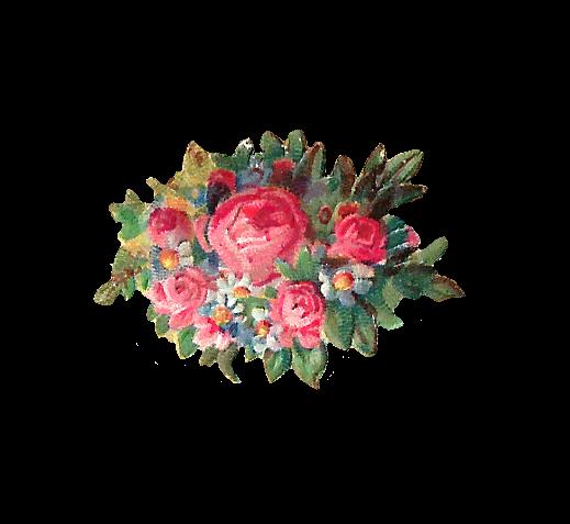 Pink Rose clipart flower bouquet Art: charming a piece little