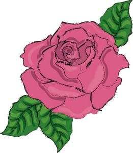 Pink Rose clipart flowery Clipart Rose Pink Rose Image: