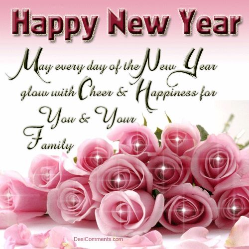 Pink Rose clipart happy new year Cheer new family  day