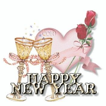 Pink Rose clipart happy new year Best ;;; Pinterest Year's on