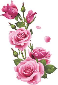 Pink Rose clipart flower bouquet SVET Art  KLIP Pinterest