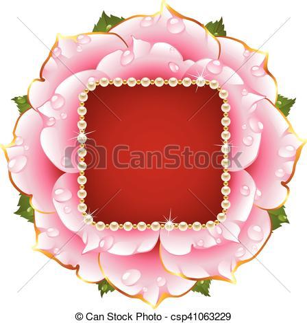 Pink Rose clipart clip Necklace Rose Illustration Vector