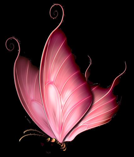 Pink Rose clipart pink black butterfly Pink gifs Фотках svetajud Фотках