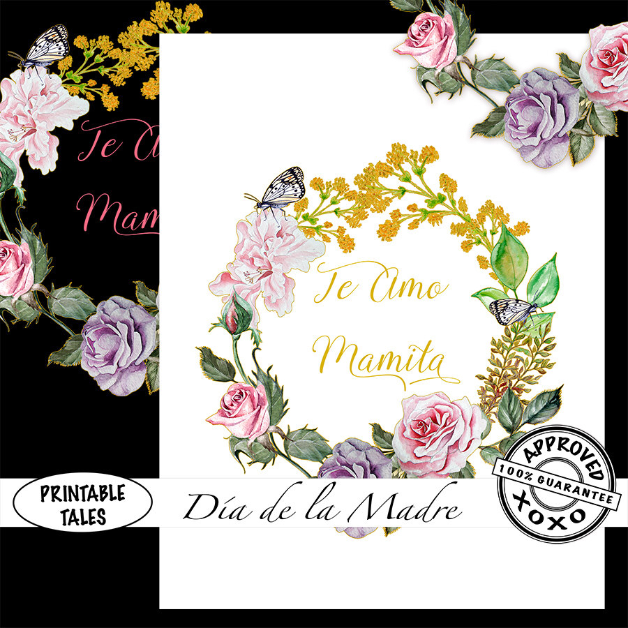Pink Rose clipart pink black butterfly Te  blush Mamita Quote